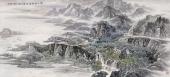 【已售可定制】张振栋六尺国画山水画作品《江山绿林淡云烟》