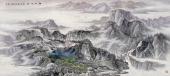 【已售可定制】张振栋六尺精品山水画作品《江山烟海图》