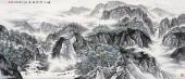 【已售可定制】张振栋六尺横幅山水画作品《峰下云烟绿满州》