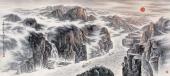 【已售可定制】辽宁美协张振栋六尺山水画《日映长江三峡图》