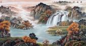 【已售】至尊聚宝盆 欧阳山水画作品《源远流长》