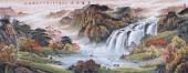 【已售】聚宝盆山水画 欧阳小六尺写意山水画《源远流长》