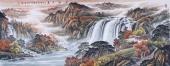 【已售】客厅风水画 欧阳小六尺横幅山水画作品《源远流长》