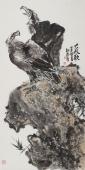 【询价】宿州美协丰伟四尺竖幅花鸟画《大风歌》