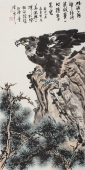 【询价】青年名家雄鹰展翅 丰伟四尺竖幅写意国画鹰