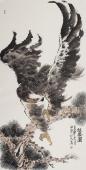 【询价】丰伟四尺竖幅写意精品花鸟画《松风图》