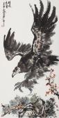 【询价】雄风万里 丰伟四尺竖幅写意国画鹰