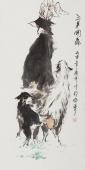 三羊开泰 北京美协张春奇写意动物画作品