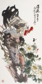 【询价】一级美术师冯志光四尺竖幅雄鸡图《雄风》