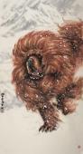中国一熬 河南美协王贵邱精品六尺竖幅写意动物画作品