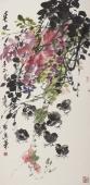 【询价】实力派画家冯志光四尺竖幅花鸟画《春晓》