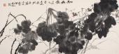 【询价】浙江美协书画名家冯志光四尺横幅荷花《和为贵》