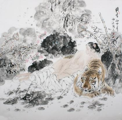 著名书画家杨西沐精品字画《荷香》