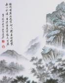 【已售】广西美协欧阳精品四尺竖幅仿古山水