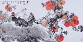 【已售】吉林美协闫海春四尺横幅写意花鸟画《事事如意》
