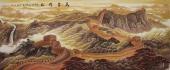 【已售】湖南美协曾庆淮小八尺精品写意山水画作品《万里雄风》