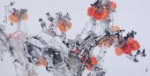 【已售】吉林美协闫海春四尺横幅花鸟画《事事如意》