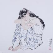 河南美协宋廷君工笔人物画