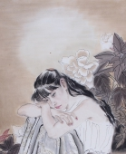 【已售】河南美协宋廷君四尺横幅人物画