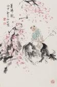 【已售】河南美协杨西沐精品人物画《暮归图》