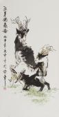 【已售】三羊开泰 北京美协张春奇动物画