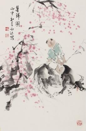 河南美协杨西沐精品人物画《暮归图》