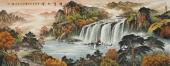 广西美协欧阳六尺横幅聚宝盆《锦绣山河》