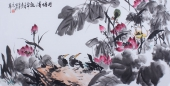 【已售】北京美协周宣荣四尺写意荷花图《荷塘清趣》