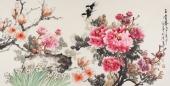 画家寇萍写意国画牡丹四尺《玉堂春》