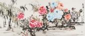 花鸟名家寇萍写意六尺国画牡丹《春晖》