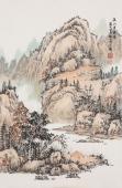 国家一级美术师曲胜利写意国画山水《溪山清远图》