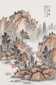 国家一级美术师曲胜利写意山水画《深山秋意》