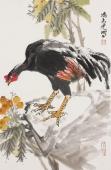 【询价】一级美术师冯志光四尺三开写意花鸟画