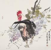 【询价】著名画家冯志光精品写意花鸟《紫气东来》