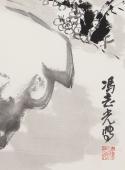 【询价】冯志光大写意花鸟画四尺三开雄鸡图