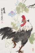 【询价】花鸟名家冯志光写意花鸟画四尺三开《春风》