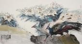 【询价】中国水墨研究院院士冯志光六尺孔雀图《吉祥百合图》