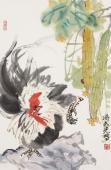 【询价】著名花鸟画家冯志光四尺三开写意精品雄鸡图