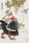 【询价】著名花鸟画家冯志光大写意雄鸡图