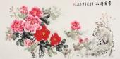 著名花鸟画家云志四尺写意国画牡丹《富贵祥和》