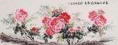 安徽美协云志小六尺写意国画牡丹图《春回大地满园飘香》
