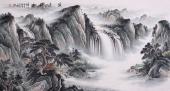 【已售】曾庆淮六尺横幅山水画作品《源远流长》