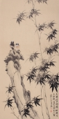 【已售】皇甫小喜四尺竖幅写意竹子图