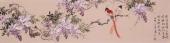 河南美协皇甫小喜四尺对开精品写意花鸟画作品