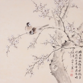 皇书房装饰画 黄甫小喜四尺斗方写意梅花