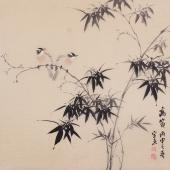 餐厅装饰画 皇甫小喜四尺斗方精品花鸟画