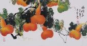 黄艺三尺横幅国画葫芦《福禄图》