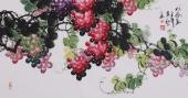 黄艺三尺国画葡萄《秋高图》