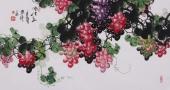 黄艺三尺国画葡萄《清秋图》