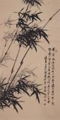 清华美院张国稳四尺竖幅国画竹子图